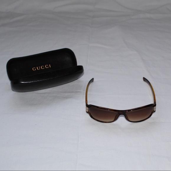 Authentic Gucci GG Brown Tortoise Sunglasses